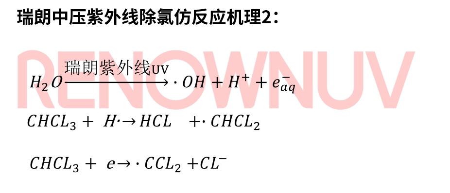 瑞朗中压紫外线去三氯甲烷原理
